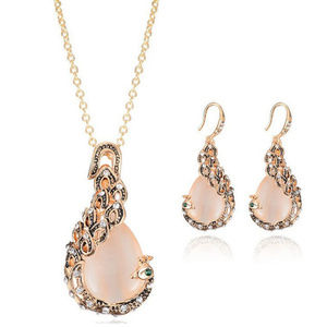 Set of earrings+necklace jewelry crystal